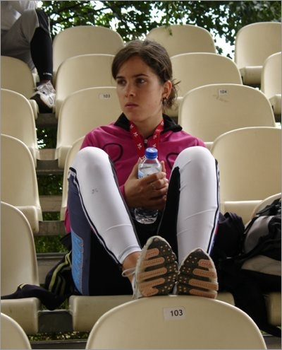 Morgane Echardour preparing to race